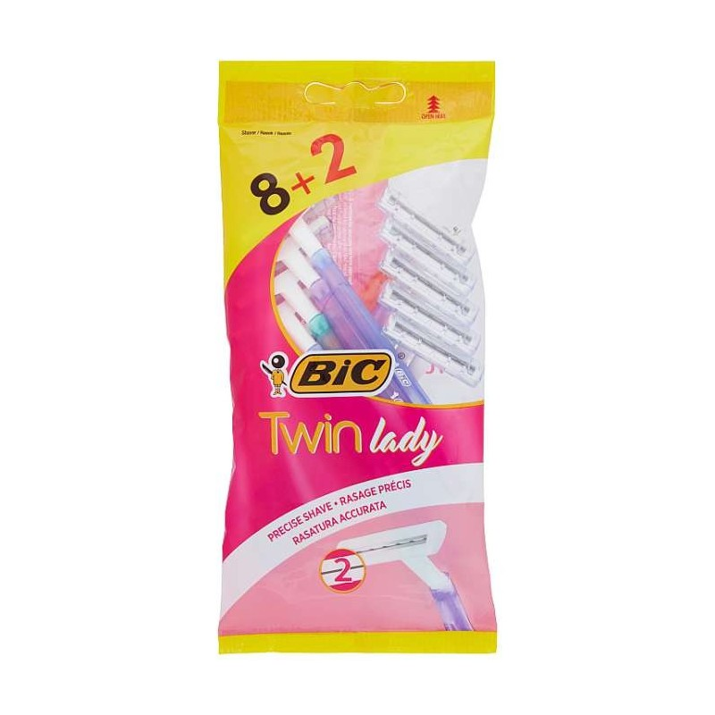 Bic Twin lady Rasoio 8 pz + 2